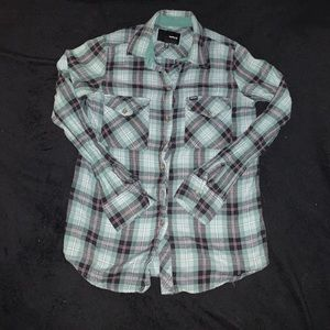 Hurley Plaid Button Up/XS